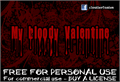 Illustration of font CF My Bloody Valentine