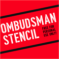 Illustration of font Ombudsman Stencil