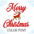 Illustration of font Merry Christmas Color