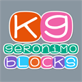 Illustration of font KG Geronimo Blocks