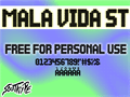 Illustration of font Mala Vida St