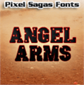 Illustration of font Angel Arms