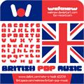 Illustration of font British pop Music