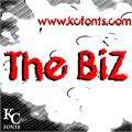 Illustration of font The Biz