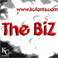 Illustration of font The Biz