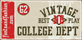 Illustration of font VINTAGE COLLEGE DEPT_DEMO_worn