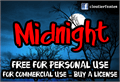 Illustration of font Midnight