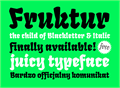 Illustration of font Fruktur
