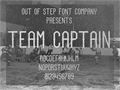 Illustration of font Team Captain
