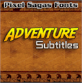Illustration of font Adventure