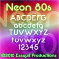 Illustration of font Neon 80s