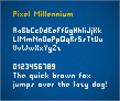 Illustration of font Pixel Millennium
