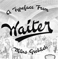 Illustration of font Waiter PERSONAL USE ONLY