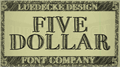 Illustration of font FiveDollar