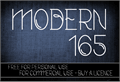 Illustration of font CF Modern 165