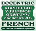 Illustration of font FHA Eccentric French