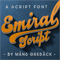 Illustration of font Emiral Script PERSONAL USE
