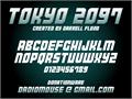 Illustration of font Tokyo 2097