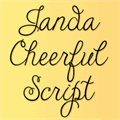 Illustration of font Janda Cheerful Script