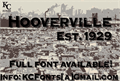 Illustration of font Hooverville