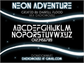 Illustration of font Neon Adventure