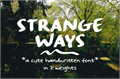 Illustration of font Strangeways Sample