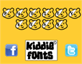 Illustration of font PUDSEY BEAR