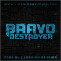 Illustration of font Bravo Destroyer Personal USE