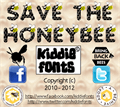 Illustration of font SAVE THE HONEYBEE