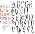 Illustration of font Zebral Sketched