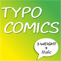 Illustration of font TYPO COMICS DEMO