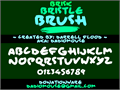 Illustration of font Brisk Bristle Brush