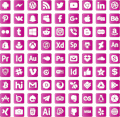 Illustration of font font social media