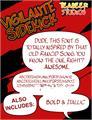 Illustration of font Vigilante Sidekick