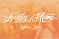 Illustration of font Lovely Home
