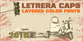 Illustration of font Letrera Caps Inline