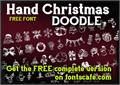 Illustration of font Hand Christmas Doodle