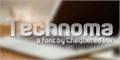 Illustration of font Technoma