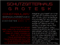 Illustration of font Schutzgitterhaus-Grotesk NBP