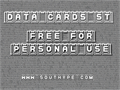 Illustration of font Data Cards St