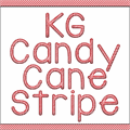 Illustration of font KG Candy Cane Stripe