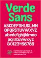 Illustration of font Verde Sans Neue - personal use