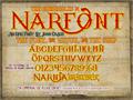 Illustration of font Narnfont