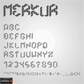 Illustration of font Merkur