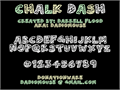 Illustration of font Chalk Dash