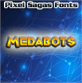 Illustration of font Medabots