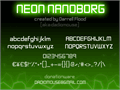 Illustration of font Neon Nanoborg