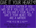 Illustration of font Give Your Heart