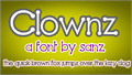 Illustration of font Clownz