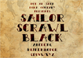 Illustration of font Sailor Scrawl Black